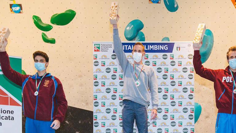 Poker… d'asso: Gabriele Moroni campione italiano boulder per la quarta volta!